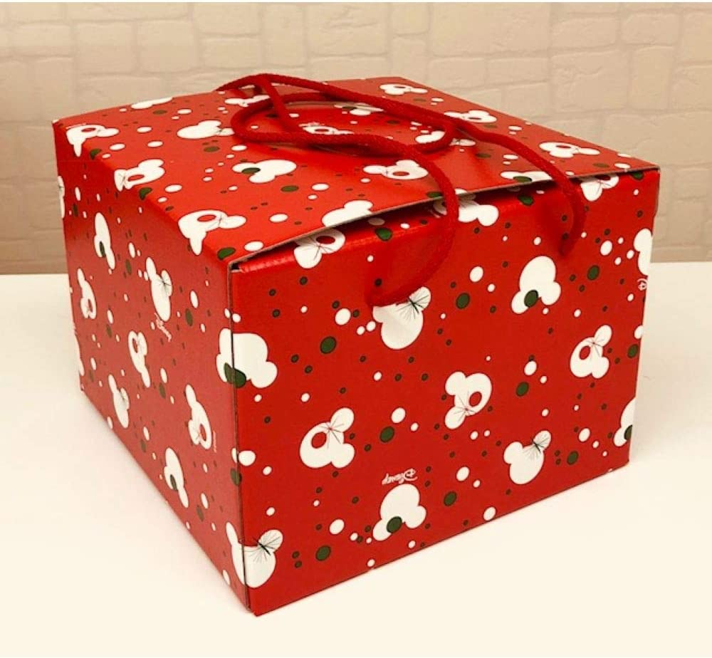 Scotton Mickey Christmas Caja de Navidad de Navidad Mickey Mouse 24.5 x 24.5 x 18 cm: Amazon.es: Hogar