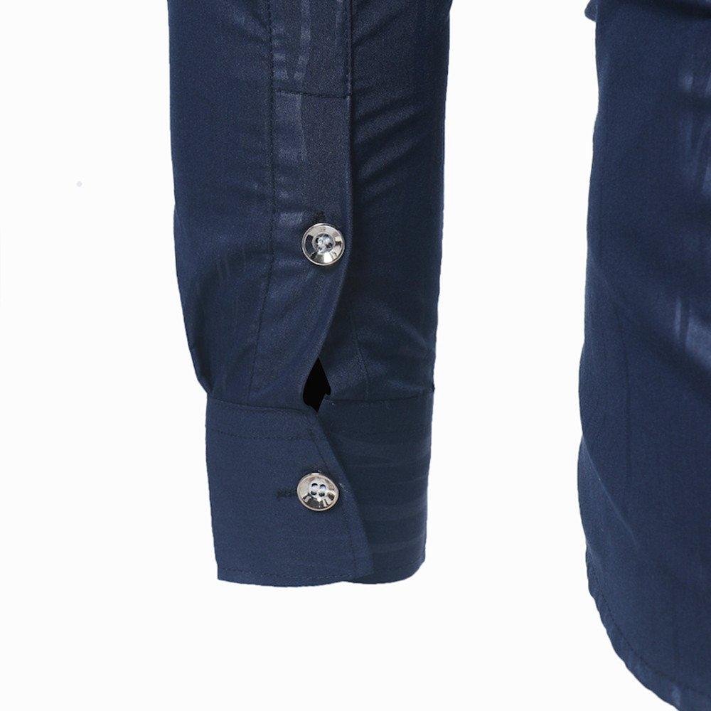 Camisa casual Otoño de hombre,Sonnena ❤ Camisa formal casual otoño de los hombres con la impresión Camisa de manga larga Slim Fit Blusa superior: ...