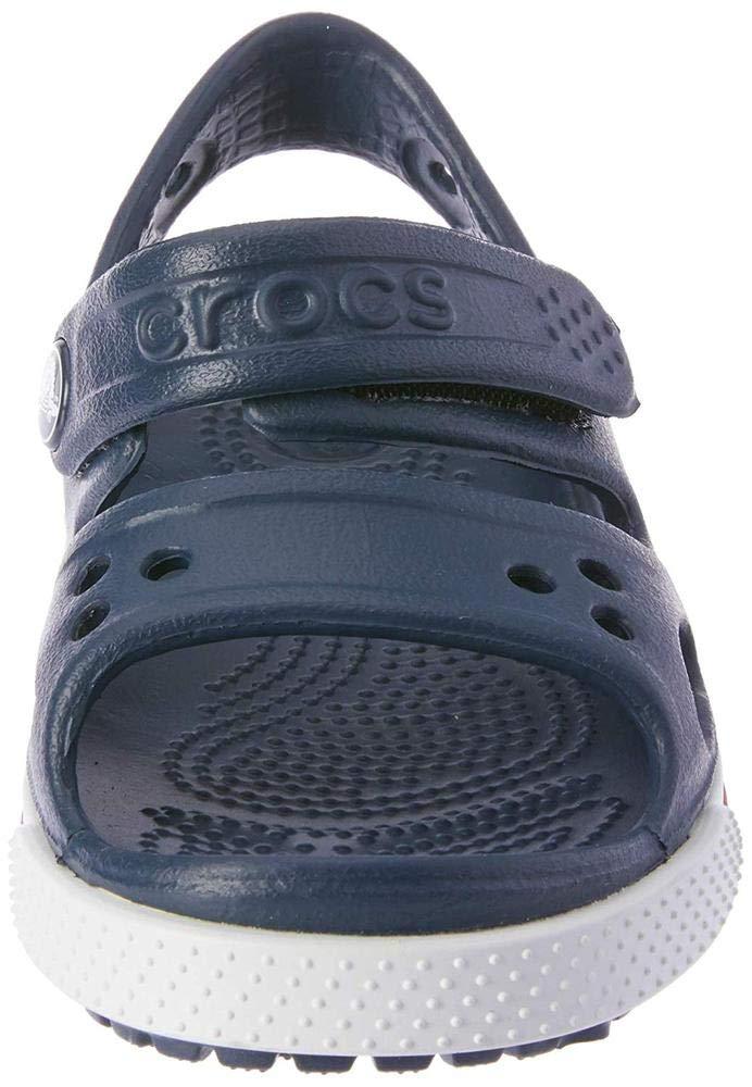 Crocs Kid's Boys and Girls Crocband II Sandal | Pre School, Navy/White, 5 M US Toddler by Crocs (Image #10)