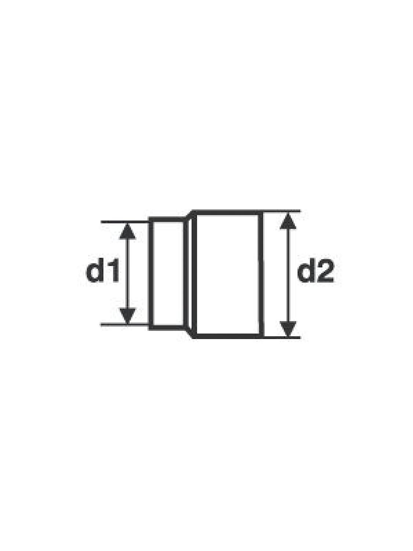 200mm gussgrau raik 13021101 Rauchrohr//Ofenrohr Erweiterung 130mm