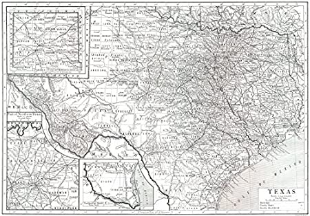 Map Of Northern Texas.Antiqua Print Gallery Texas Texas State Map Showing Counties 1910