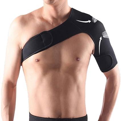 F-fook terapia elástico ajustable Unisex apoyo correa abrigo solo hombro  cinturón banda almohadilla servoasistido f926d05ad2a2