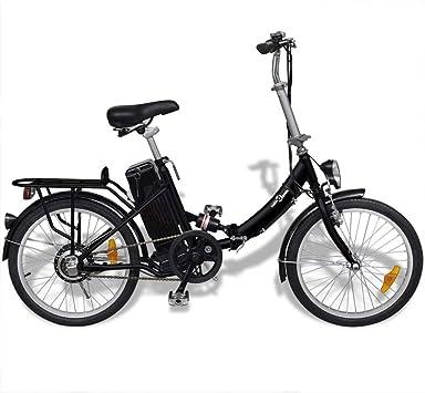 vidaXL Bicicleta eléctrica Plegable aleación Aluminio batería ...