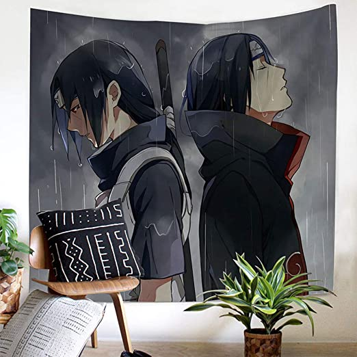 FJMM Anime Tapestries Naruto Tapestry Wall Hanging Home Decor 3D Printing Barrier Curtains 90 x66