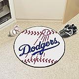 "Fan Mats 6524 MLB - Los Angeles Dodgers 27"" Diameter Baseball Shaped Area Rug"