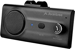Avantree CK11 Car Bluetooth Speaker with Loud Speakerphone, Support Siri Google Assistant & Auto On Off, Volume Knob, Wireless Car Kit with Visor Clip