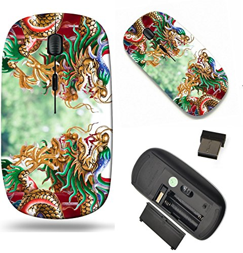 MSD Wireless Mouse Travel 2.4G Wireless Mice with USB Receiver, Noiseless and Silent Click with 1000 DPI for notebook, pc, laptop, computer, mac book design: 10540069 Dragons in chinese - Temple 427