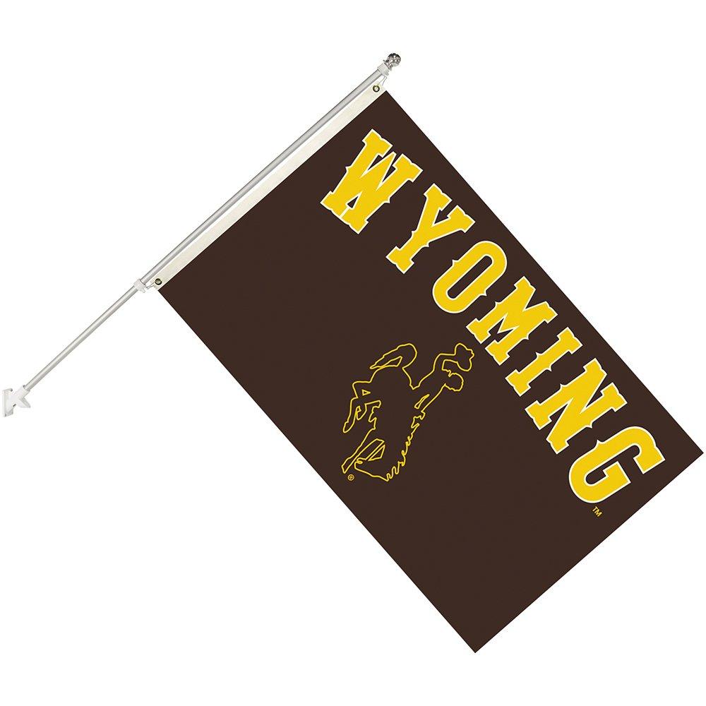 Seasonal Designs Black INC Size 3 x 5 NCAA Wyoming Cowboys Collegiate Helmet Flag Kit