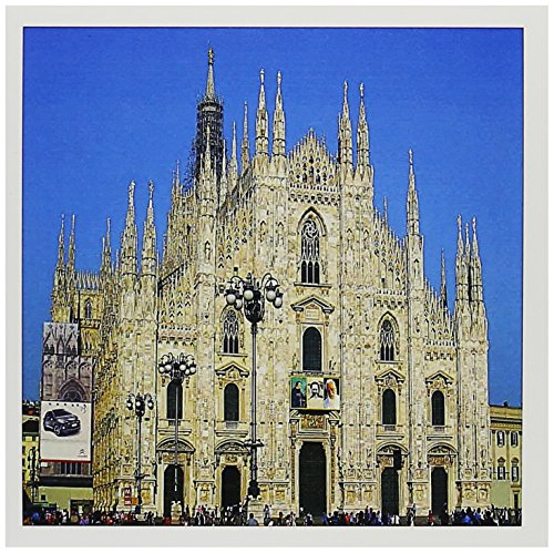 3dRose Milan, Italy Duomo Church, blue sky - Greeting Cards, 6 x 6 inches, set of 12 (gc_66296_2)