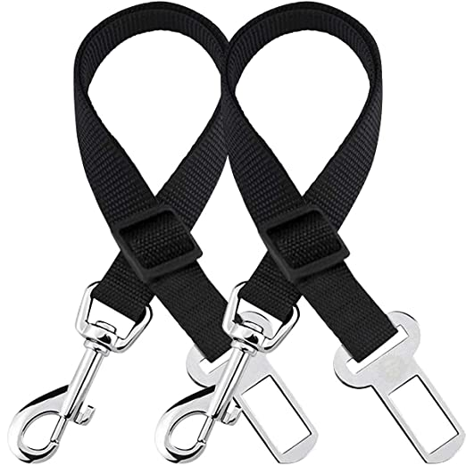 Pet Supplies Mufei 2 Packs Adjustable Pet Dog Cat Car Seat Belt