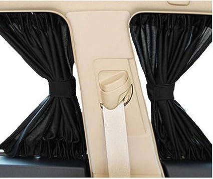 Rear or Side UV Protection Sun Shade 2 x Black Sun Blind Rolls 45 /& 50 cm