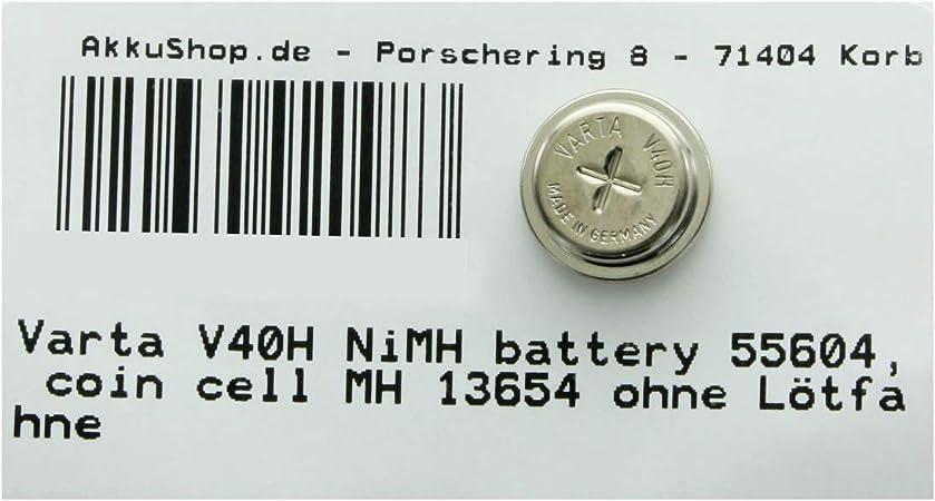 Varta V40h Nimh Battery 55604 Coin Cell Mh 13654 Elektronik