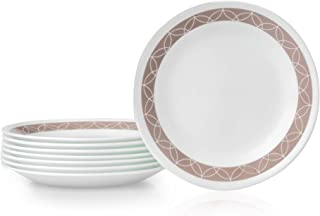 product image for Corelle Chip Resistant Bread Plates, 8-Piece, Sand Sketch