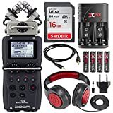 zoom h6 module - Zoom H5 Four-Track Portable Recorder with Interchangeable Microphone System Including Samson Studio Headphones and Deluxe Accessory Bundle