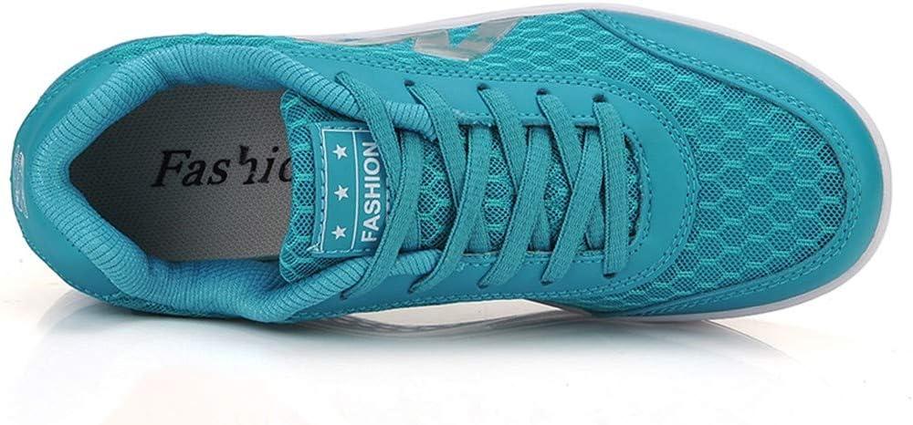 AG&T Plataforma de Malla de Las Mujeres Zapatos Mocasines Aptitud de los Deportes de cojín de Ocio de la Manera Ocasional Corriendo: Amazon.es: Deportes y aire libre