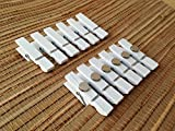 Mini White Magnetic Clothespins Clip Magnets Fridge Magnets...