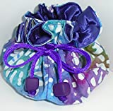 25% OFF! TURQUOISE PURPLE Travel Jewelry Pouch Bag & Cosmetic Tote! GREAT GIFT!
