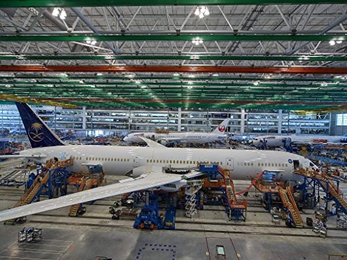 Commercial Boeing Airplanes - Photograph| Work progresses at Boeing South Carolina, an assembly site for Boeing's Commercial Airplanes division in North Charleston, South Carolina 15 Fine Art Photo Reproduction 60in x 44in