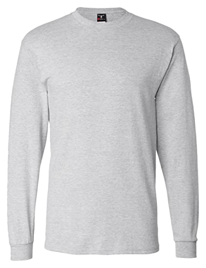06eb0724a299 Image Unavailable. Image not available for. Color: Hanes mens 6.1 oz. Long-Sleeve  Beefy-T(5186)-ASH