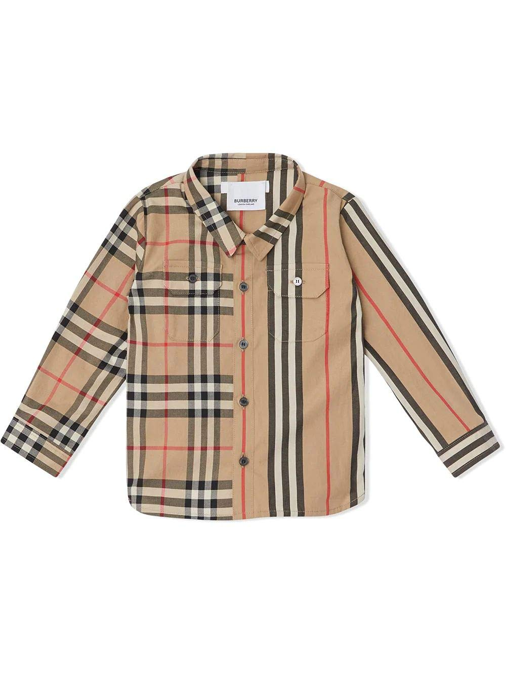 BURBERRY Luxury Fashion Baby-Boys Shirt Winter Beige by BURBERRY