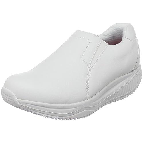 Zapatos blancos con cordones Skechers para mujer ENF8Jnaa7