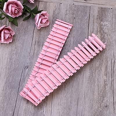 BESTOMZ 100 cm x 5 cm Mini Peque/ña Valla Flexible de Madera DIY Casa de Mu/ñecas de Hadas Jard/ín de Micro Planta Decoraciones de Navidad Decoracion de Planta Maceta Rosa