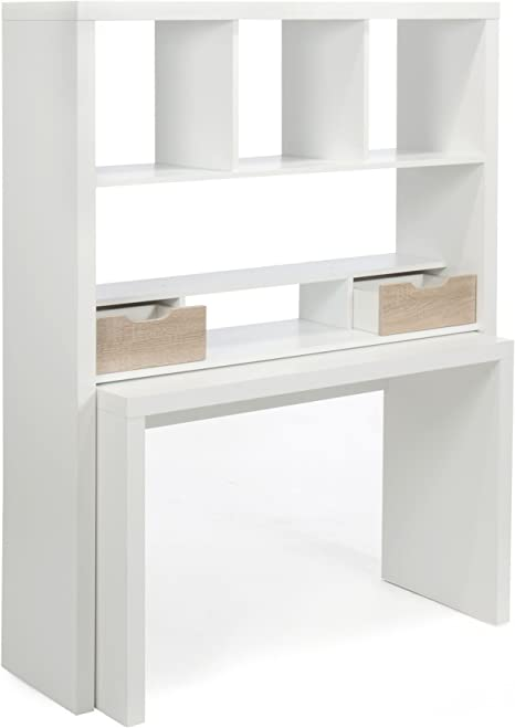 Alinea Twisty Bureau Bureau Modulable Avec Etageres Et Tiroirs Blanc Amazon Fr Cuisine Maison
