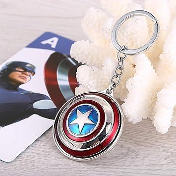 VAWAA Joyería Los Vengadores Capitán América Llavero ...