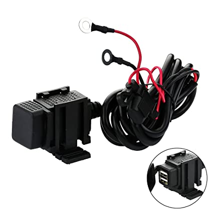 12V Motorcycle Touring Moto SAE to USB Socket Ports Adapter Power Cable Charging