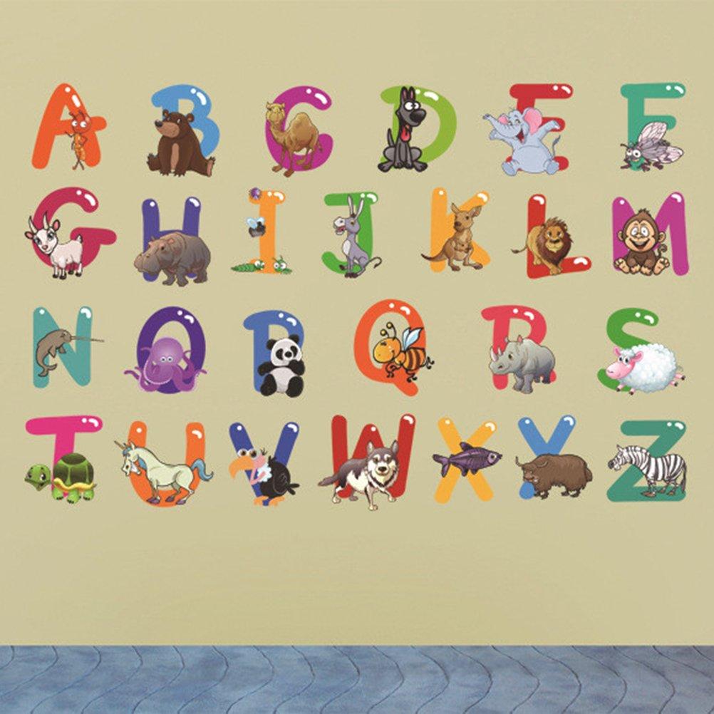 BESTOMZ Pegatinas de Pared de Letras Pegatinas Infantil DIY Decoración Educativa para el Hogar: Amazon.es: Salud y cuidado personal