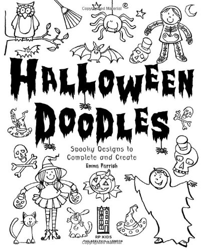 Halloween Doodles: Spooky Designs to Complete and Create: Emma ...