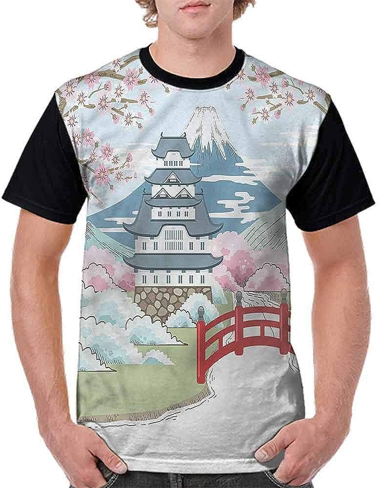 Cotton T-Shirt,Worn Out Wall Pattern Fashion Personality Customization