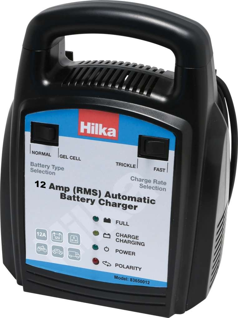 Hilka 83650012 Automatic Battery Charger, 12 A Hilka Tools Ltd