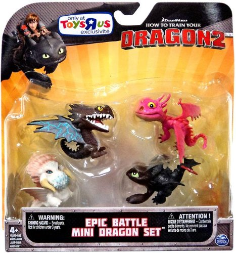 HOW TO TRAIN YOUR DRAGON EPIC BATTLE 4 MINI DRAGONS FIGURINES SET Spin Master