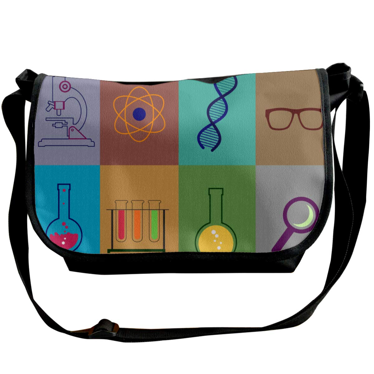 Futong Huaxia Physical Chemistry Science Travel Messenger Bags Handbag Shoulder Bag Crossbody Bag Unisex