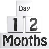 Wooden Baby Age Blocks | Monthly Milestone Blocks