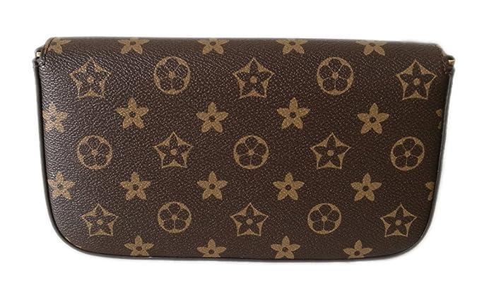 ffccde3526eb Womens Monogram Canvas Flap Purse Small Chain Cross Body Bag (monogram)   Handbags  Amazon.com