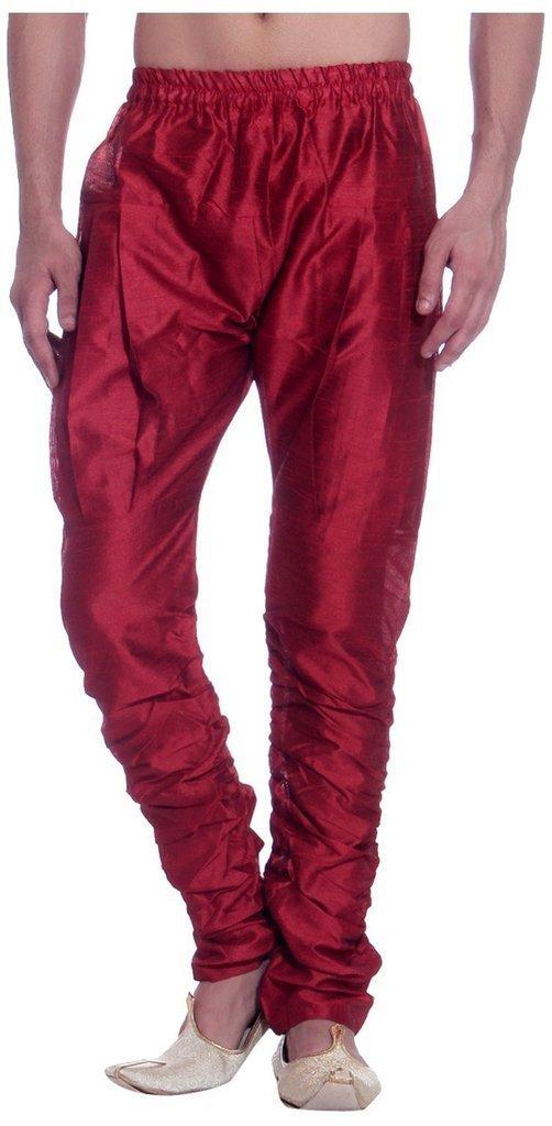 Royal Kurta Men's Art Silk Fine Quality Ready to Wear Harem Pant Free Size Red
