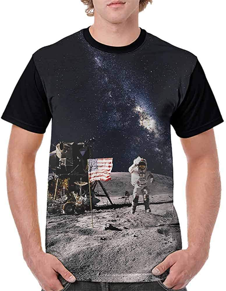 Vintage T-Shirt,Nebula Cloud Milky Way Fashion Personality Customization
