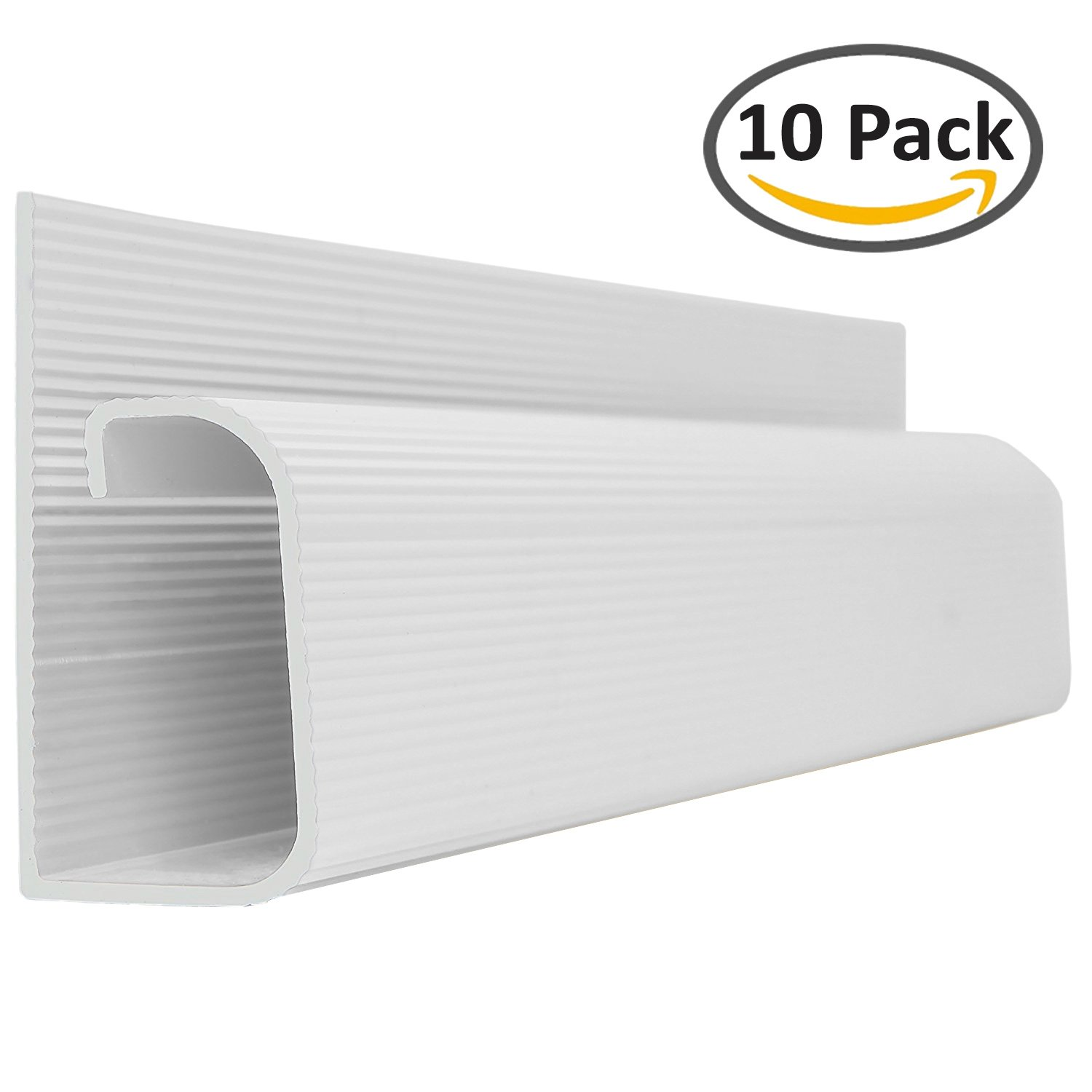 J Channel Cable Raceway - White - 48'' Length - 10 Pack