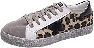 Mesdames Chaussures de Toile Femmes Filles Chaussures Casual Espadrilles à Bout Rond Chaussures Lace Up Low Top Flat Gym Sport Trainers Léger Sneakers Mode Pompes Taille 4-8