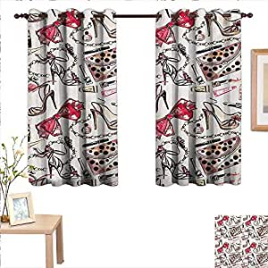 Amazon.com: MartinDecor Girls Customized Curtains Feminine