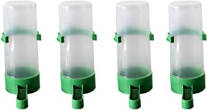 Gosear Bird Water Feeder,4pcs Bird Water Bowl for Pet Parrot and Other Birds Budgie Lovebirds Cockatiel Cage 12cm