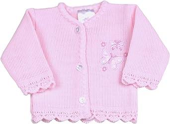BabyPrem Preemie Baby Cardigan Jacket Girl Knitted Pink Butterflies 3-8lb