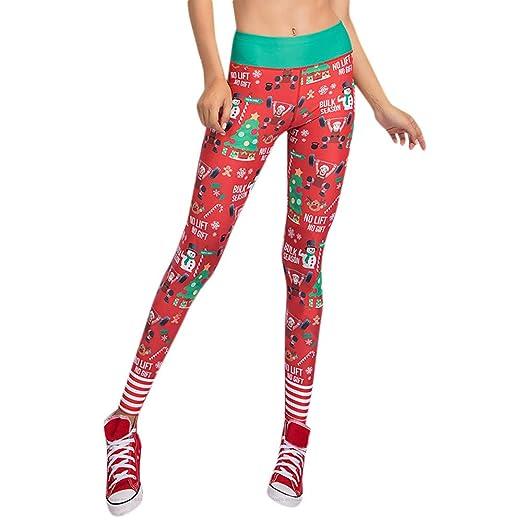 Amazon Com Oubao Yoga Pants Women S Christmas Workout