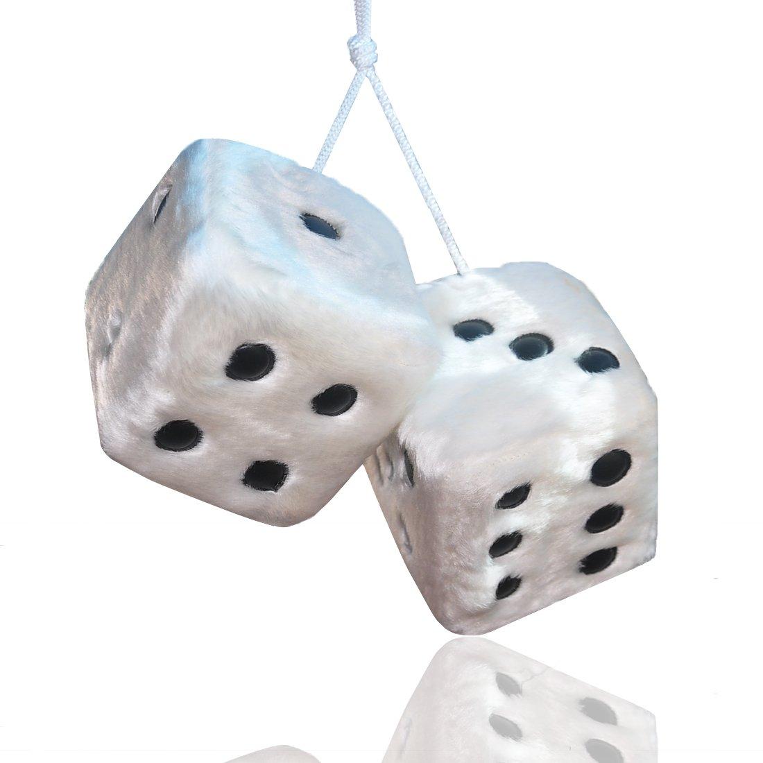FineInno Cubo di Peluche Bianco per Auto, 7,5 x 7,5 x 7,5 cm, Stanza, Tavolo, Parete, Frigorifero,Borsa, Ecc. (nero)