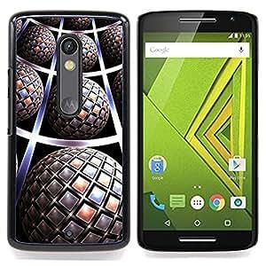 For Motorola Verizon DROID MAXX 2 / Moto X Play - pattern 3D art globe futuristic /Modelo de la piel protectora de la cubierta del caso/ - Super Marley Shop -