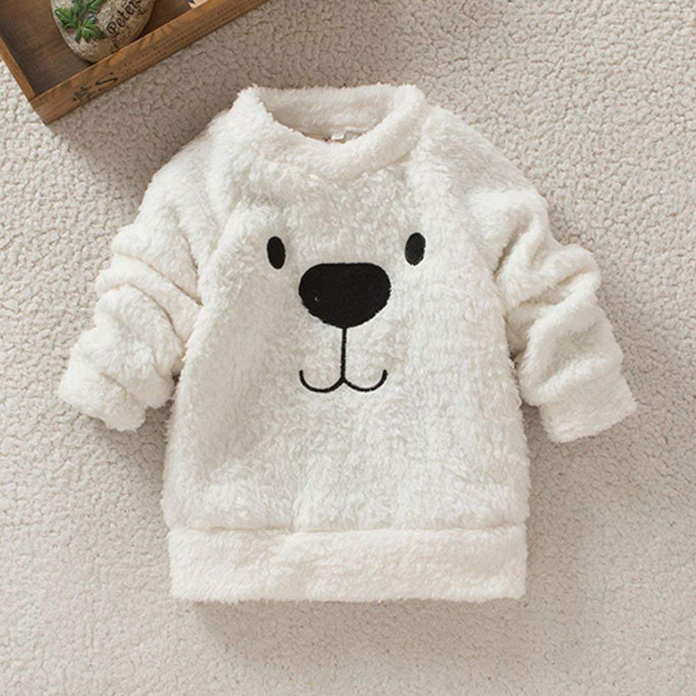 Fleece Sweater for Infant Baby Kid Pullover Sweashirt Toddler Girl Boy Outerwear 1-5t