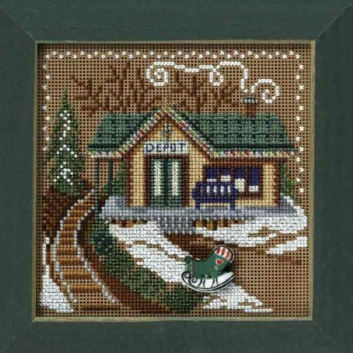 Free Counted Cross Stitch Charts (Train Depot Beaded Counted Cross Stitch Kit Mill Hill 2006 Buttons & Beads MH146304)