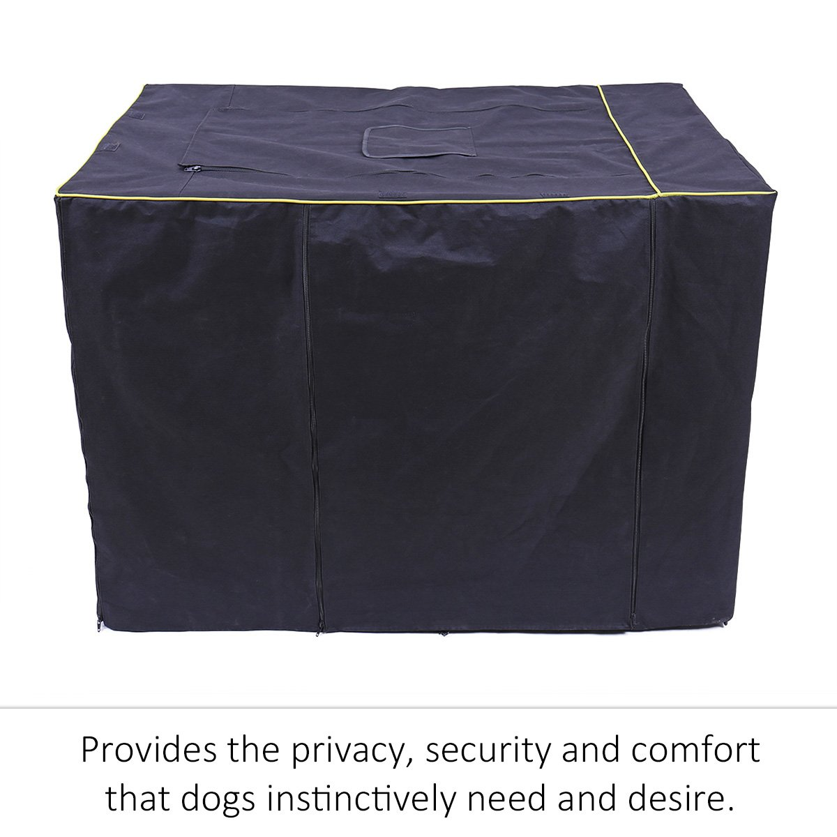 Speedy Pet Waterproof Dog Kennel Covers Durable Windproof Dust-Proof Crate Cover Indoor/Outdoor for Dog Cage Black (2XL(47.6'' x 30.3'' x 32.3''), Black) by Speedy Pet (Image #3)